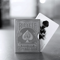 Stainless Steel Engraved Version Bicycle Card Clip Playing Card Metal Holder Magic Tricks Protect Poker Accessory