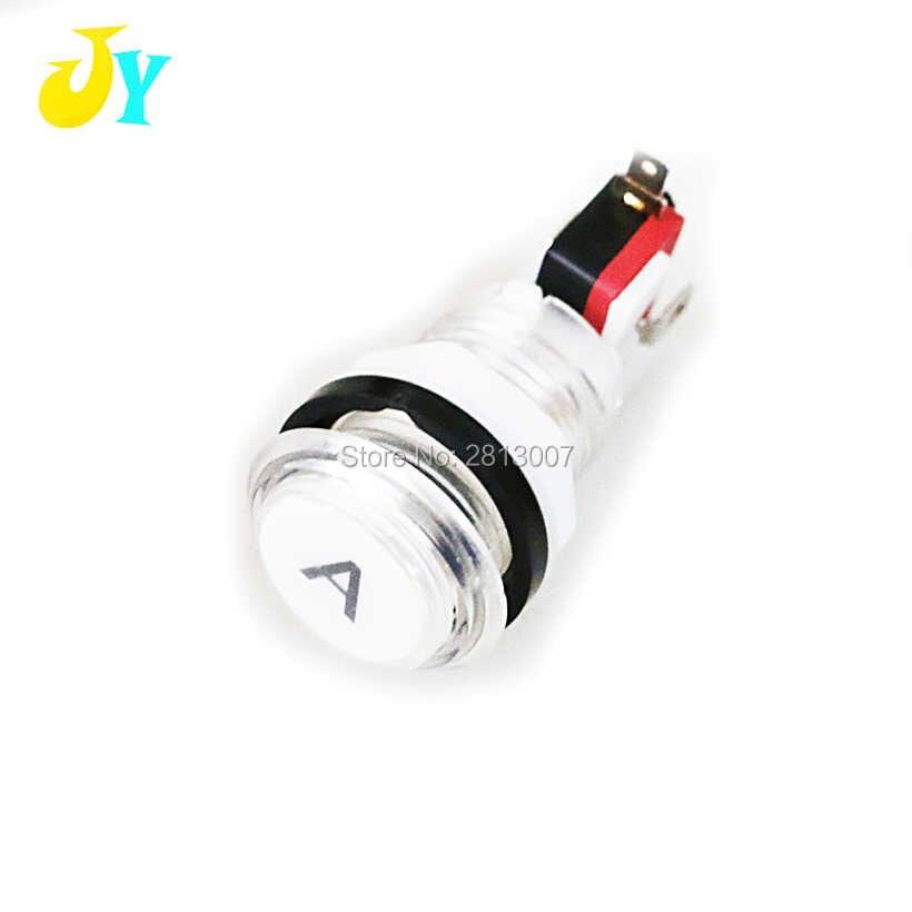 5V 12V 아케이드 버튼/LED 조명, 홀더 및 마이크로 스위치가있는 시작 버튼 조명 동전 신용 종료 일시 중지 선택