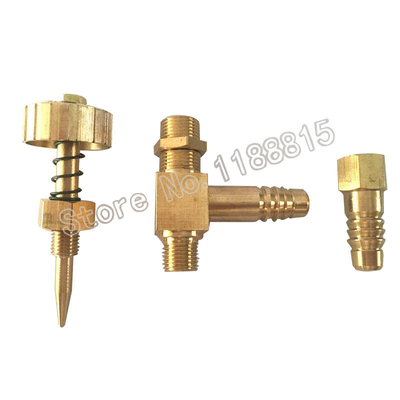 Earth Star 90 degree Brass Pagoda Right Angle Spring Adjustable Cut Off Needle Valve 10mm in Gas Heater Parts from Home Appliances