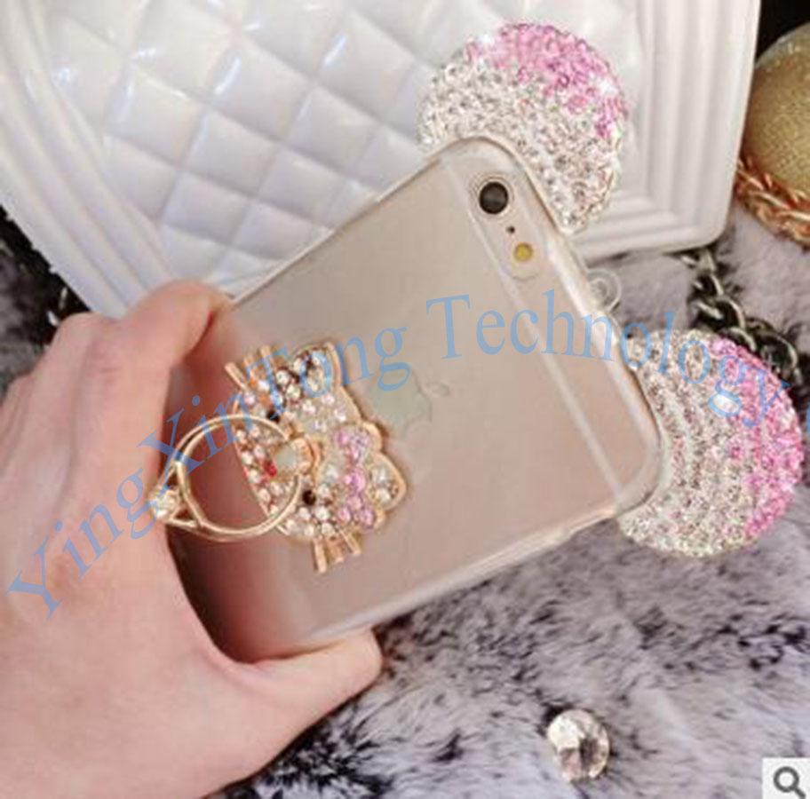 HTB1PC1HQXXXXXX aXXXq6xXFXXXg - Luxury Crystal Mirror Glitter Rhinestone Mickey Ears Phone Cases PTC 179
