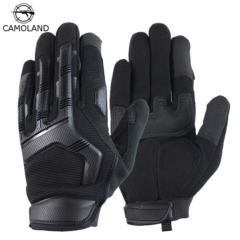 Men Gloves Tactical Military Combat Slip-resistant Gloves Outdoor Sports Full Finger Bicycle Paintball Shooting Hunting Gloves