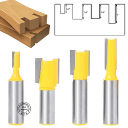 12.7mm shank-4PCS,CNC Solid carbide milling Cutter,Woodworking router bit,Engraving wood tool,2 edges straight trimming end mill