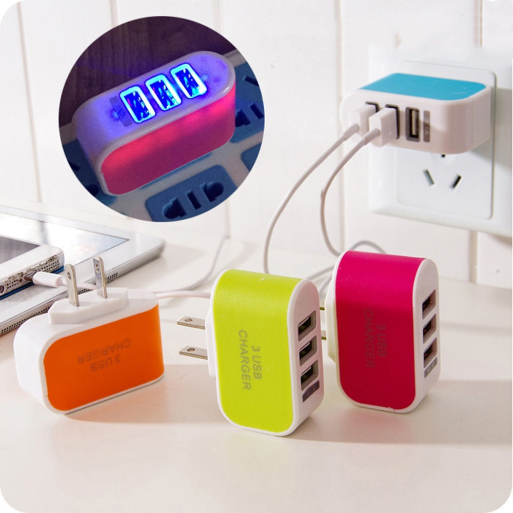 3 USB Ports Wall Home Travel AC Power <font><b>Charger</b></font> Adapter 3.1A EU Plug for IPhone 5 6 for Samsung <font><b>Galaxy</b></font> S3 S4 <font><b>S5</b></font> for LG G3 G4