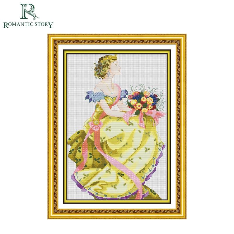 ᐅHistoria romántica hermosa flor vestido reina casa decoración Cruz ...