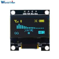 0.96 بوصة IIC المسلسل الأزرق الأصفر OLED وحدة عرض 128X64 I2C SSD1306 12864 LCD لوحة الشاشة GND VCC SCL SDA 0.96 لاردوينو