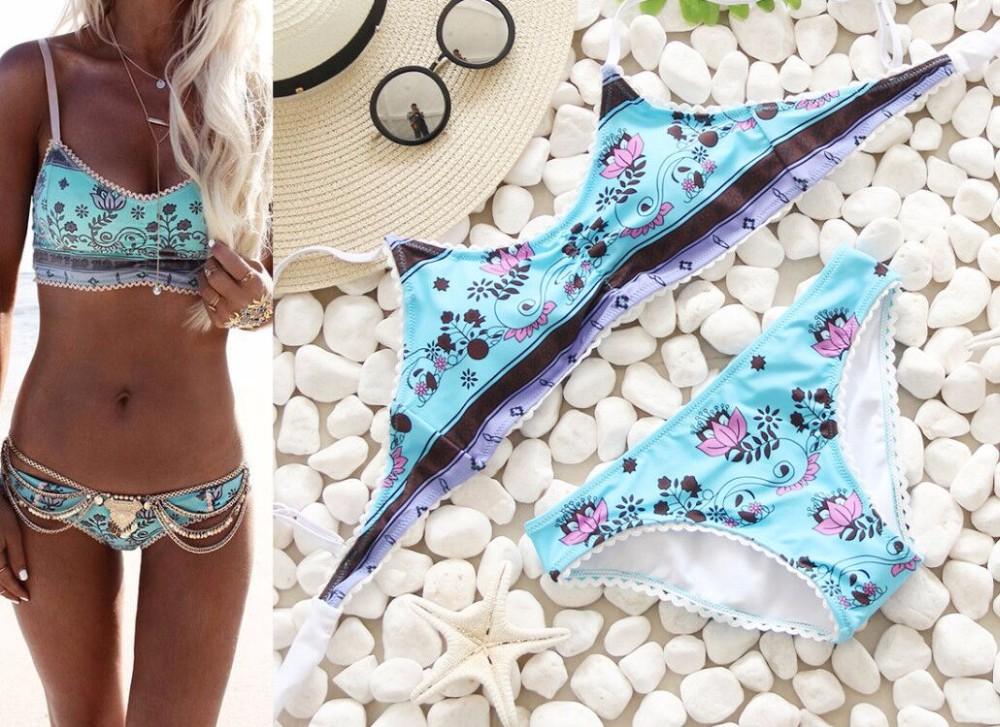 Swimwear Women Swimsuit Push Up Swimwear Female 19 Sexy Bandeau Bikini Ladies Brazilian Beach Bathing Suit bandage Bikini Set 5