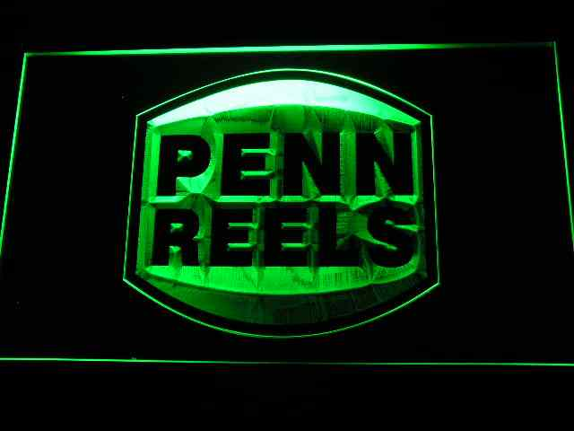 b198 Penn Reels Fishing Logo LED Neon Sign with On/Off Switch 20+ Colors 5 Sizes to choose