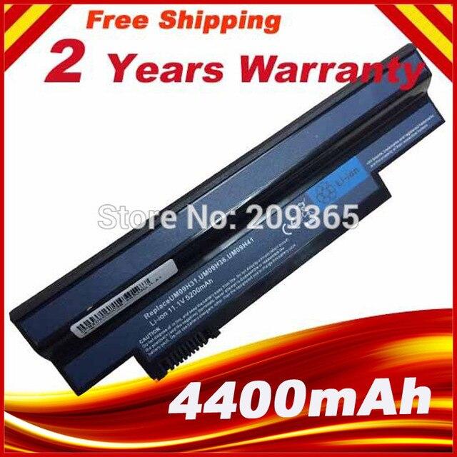Batería de ordenador portátil para Acer eM350, NAV50, NAV51, negro, UM09H31, UM09H36, UM09H41, UM09H51, UM09H56, UM09H70, UM09H71, UM09H73, 350