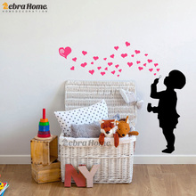 DIY Boys Love Heart Bubble Wall Stickers For Baby Bedroom Art Vinyl Murals Wallpaper For Nursery Kids Room Home Decor 78X80CM