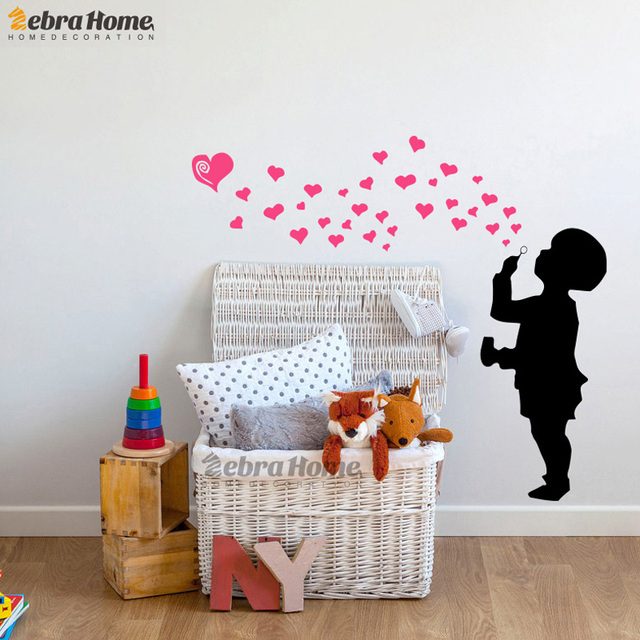 Diy Boy Bedroom Ideas Bedroom Wallpaper Designs Bedroom Sets Decorating Ideas Brown Black And White Bedroom: DIY Boys Love Heart Bubble Wall Stickers For Baby Bedroom