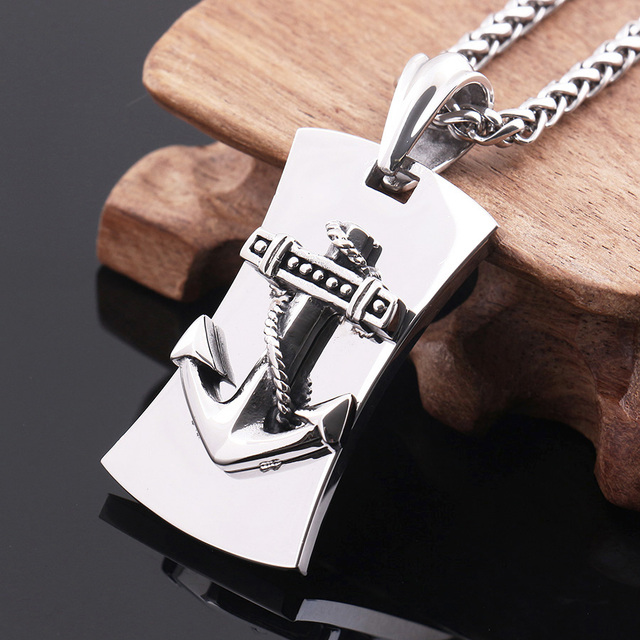 0ef3dc9021259 Beautiful Top Quality Anchor Shape Pendants Necklaces 316L Stainless Steel Pendant  mens fashion jewelry - Send necklace