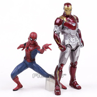 Spider Man Homecoming Spiderman Iron Man MK47 PVC Figure Collectible Model Toy