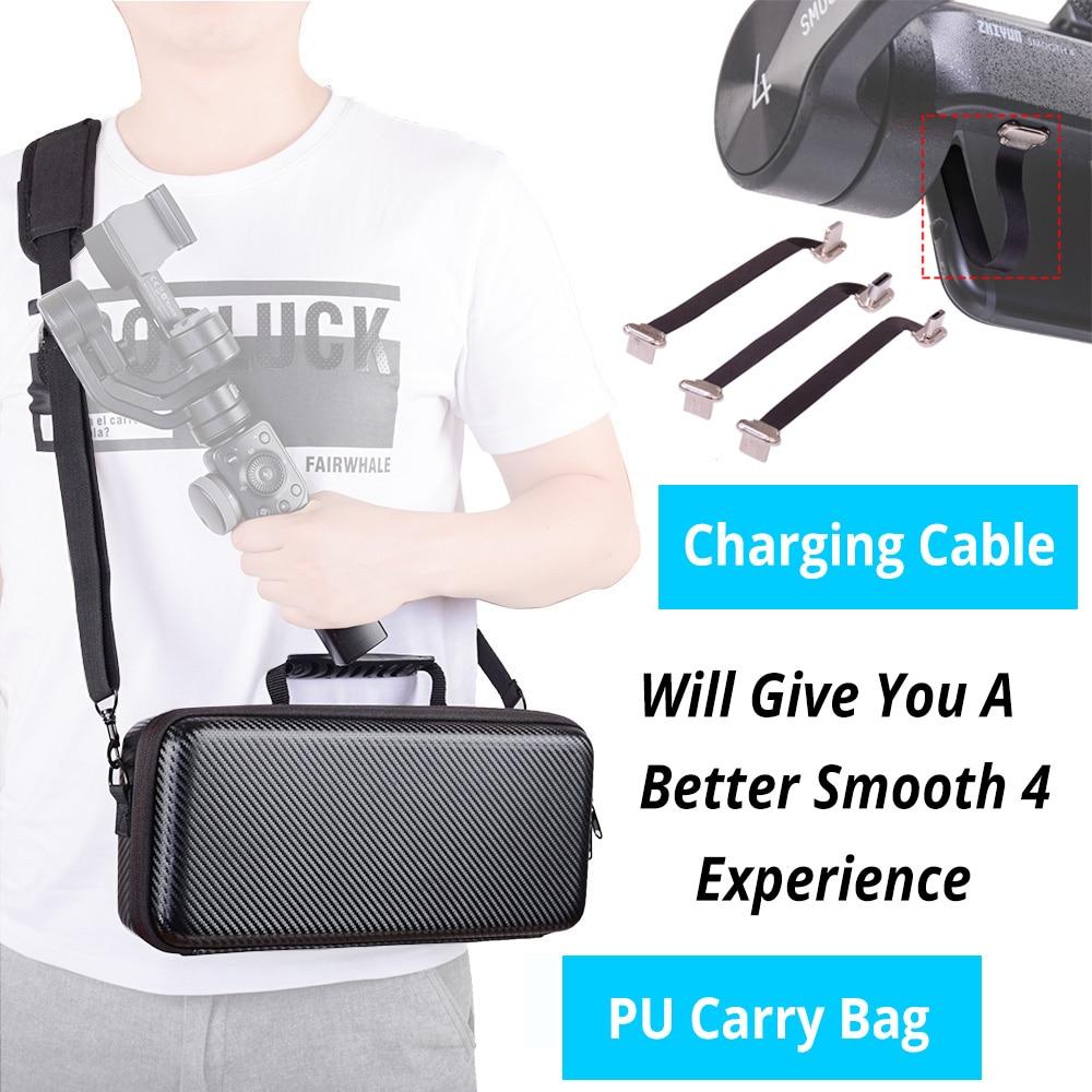 ZHIYUN Smooth 4 PU waterproof carry bag portable handbag shoulder bag 75 mm USB Type C Charging cable for Iphone Samsung HUAWEI
