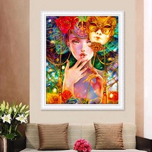 Special Shaped,Diamond Embroidery,Girl,Women,Mask,5D,Diamond Painting,Cross Stitch,3D,Diamond Mosaic,Decoration,Christmas