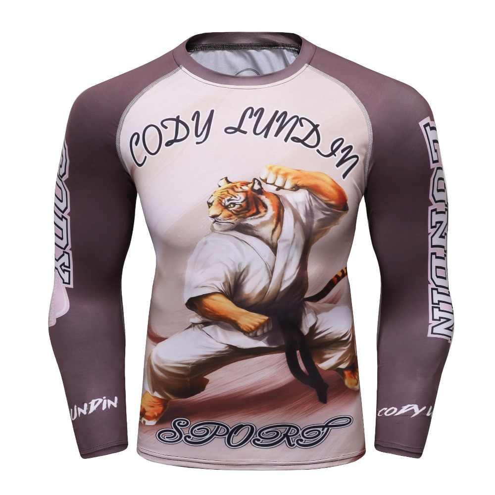 3d rashguard marca roupas de compressão camisa secagem rápida roupas de fitness mais tamanho t camisa bjj mma rash guard moda masculina topo
