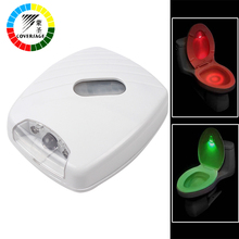 Coversage Toilet Night Light Smart Auto Sensor LED Seat Lamp Motion Toilet Bowl Home Bathroom Red Green Lamp Battery Operated