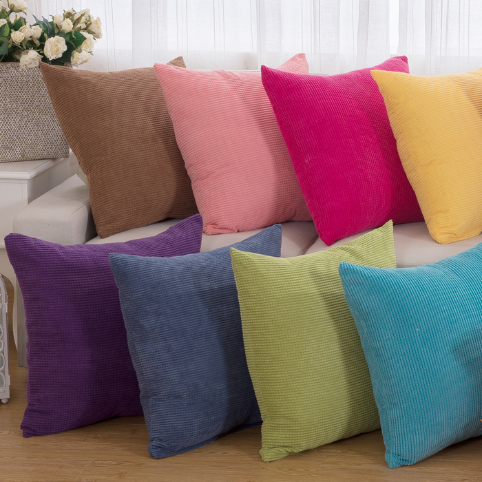 Power Source Official Website 1pcs 43*43cm Solid Color Soft Throw Pillow Cushion Cover Seat Car Home Decor Sofa Bed Decorative Pillowcase 40094 Handsome Appearance