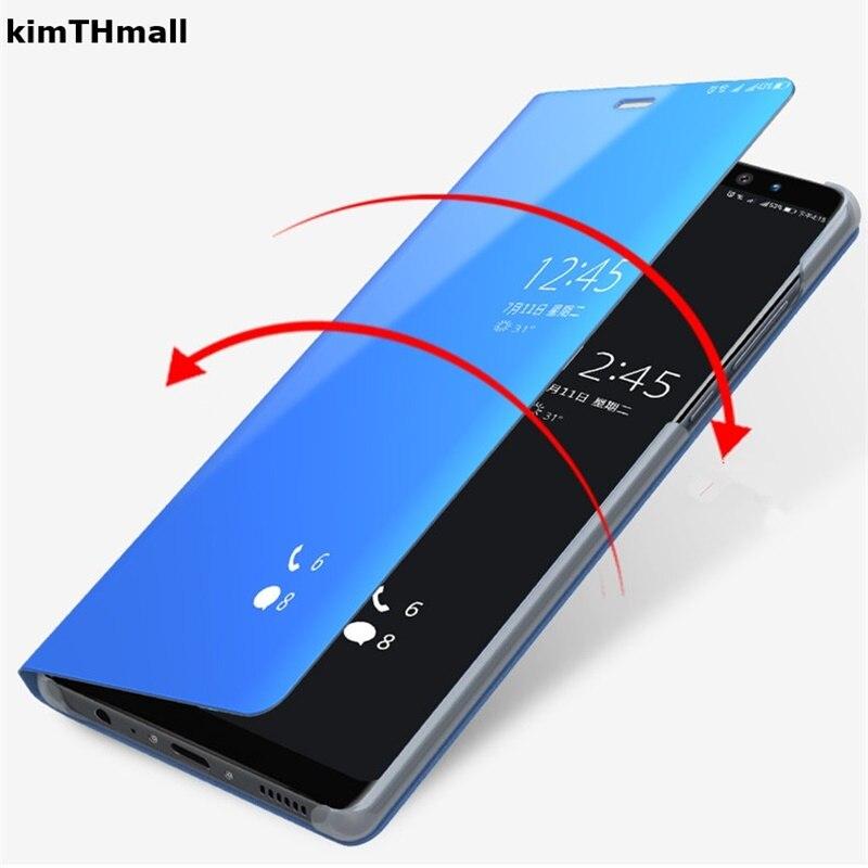 Case For Xiaomi Redmi Note 7 Cover Coque Redmi Note 6 Pro case Smart Flip Window view plating Mirror Stand Hard Case kimTHmall redmi note 7 pro cover