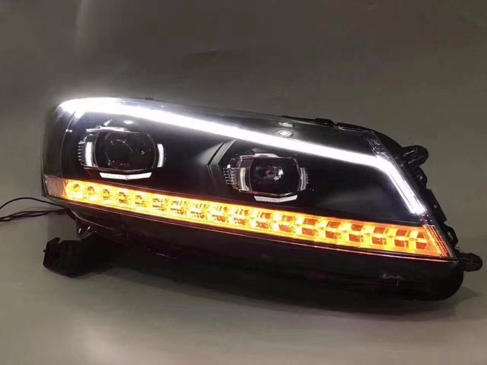 Free shipping vland factory headlamp for Accord LED headlight 2008-2013 H7 xenon lamps with Flashing Signal lamp plug and play free shipping vland factory car parts for camry led taillight 2006 2007 2008 2011 plug and play car led taill lights