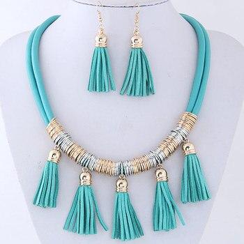 ac07d7b6a851 Joyería de moda borlas collar y aretes regalos del Partido de las mujeres  100405116