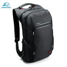 "Kingsons 15 ""17"" мужчин-рюкзак для ноутбука Внешний USB зарядки противокражный рюкзак для мужчин мужской Водонепроницаемый сумка рюкзак(China)"