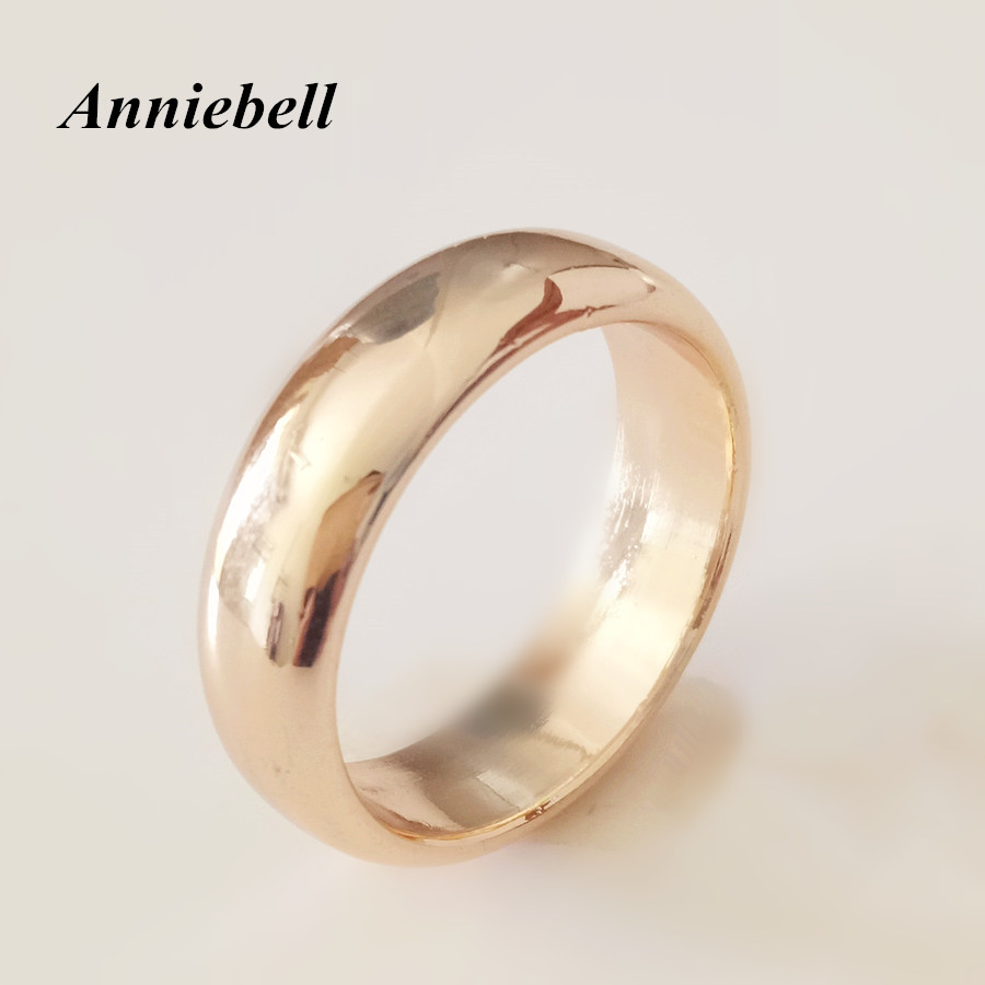 1 Piece New Gold Color Jewellery Women Men Engagement Ring Trendy Fashion Jewelry Without Stone Wedding: Wedding Rings Without Stones At Reisefeber.org
