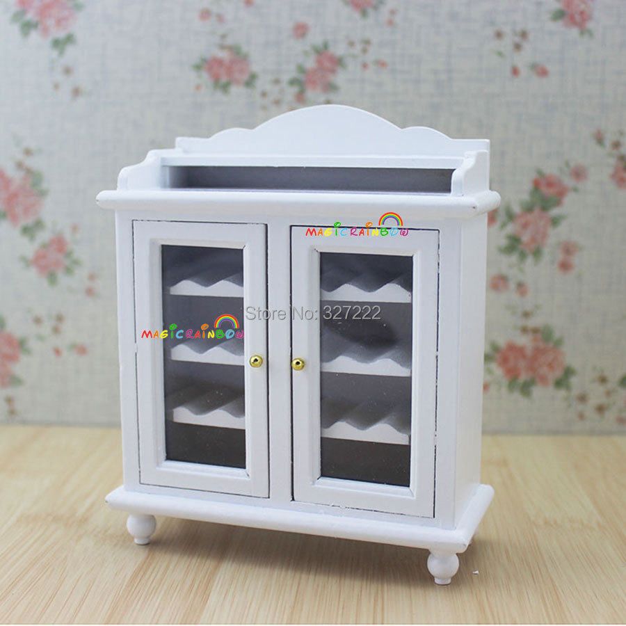 112 miniature wine cabinet shelving buffet hutch wooden toys for dollhouse kitchen furniture accessories