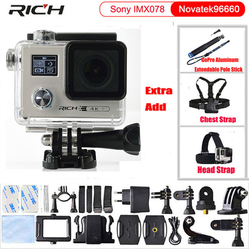 Action Camera 2.0 inch Dual Screen Sports DV Ultra HD Diving 30M Waterproof mini Camcorder F88 Sports Camara dual screen lcd ultra hd wifi sports action waterproof camera 4k 25fps 12mp