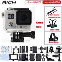Sport DV Action Camera 2.0 cal Podwójny Ekran Ultra HD Nurkowanie 30 M Wodoodporny mini Kamery Sportowe Camara F88
