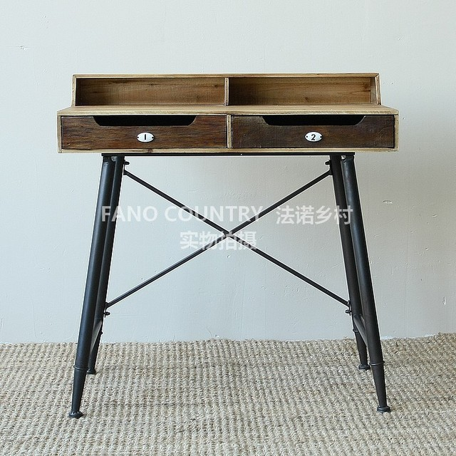 Fano French Country Style Furniture Loft Industry Do The Old Wrought Iron Dressing Table Desk D026