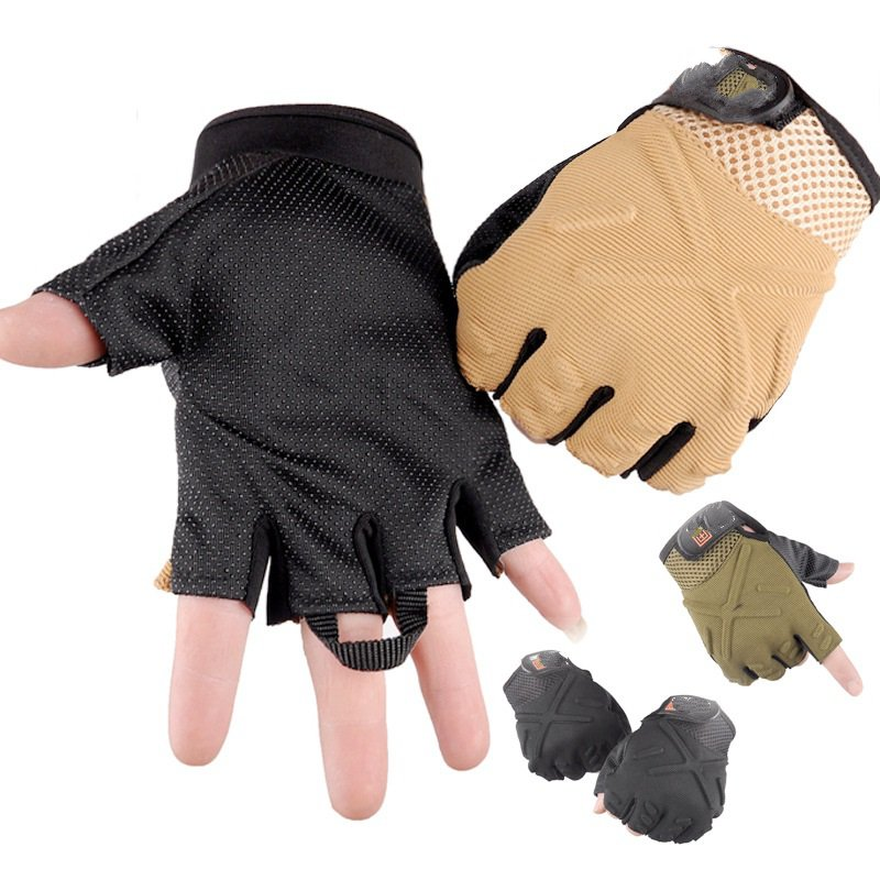 ФОТО Special forces tactical half finger gloves outdoor cycling gloves slip Korean men's fall and winter wholesale warm