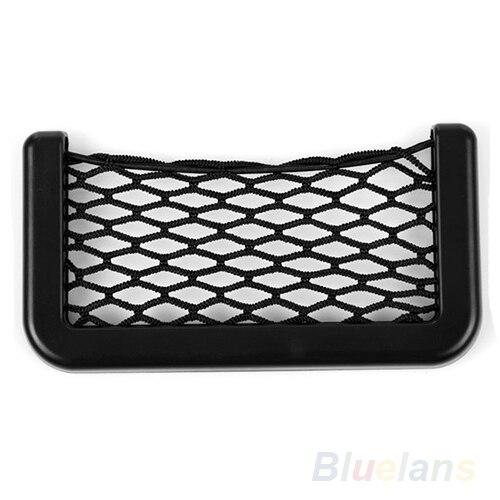 Unusual Universal Car Seat Side Back Storage Net Bag Phone Holder Pocket Organizer Black Mesh 2