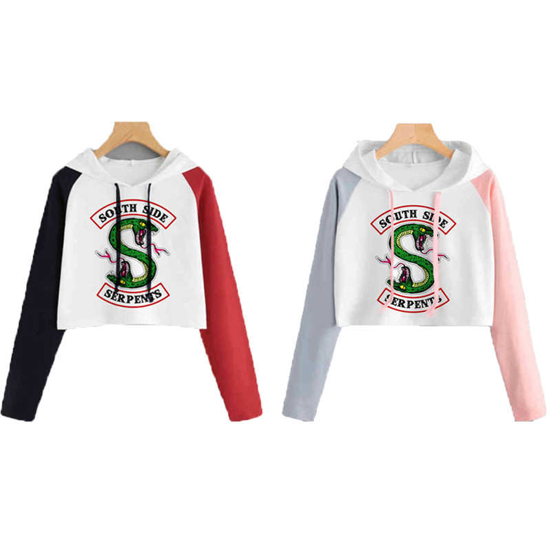 South Side Serpents Riverdale Hoodie Sweatshirts Women Girls Female Harajuku Riverdale SouthSide Pullover Hooded Streetwear Top