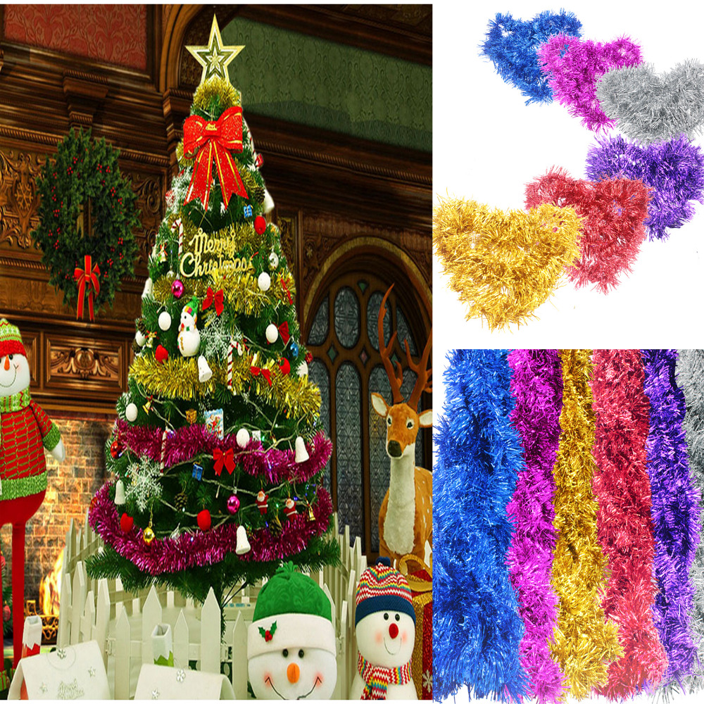 2M(6.5Ft) Luxury Deluxe Chunky Christmas Tinsel Garland