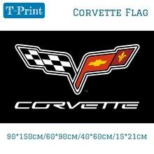 90*150 см/60*90 см/40*60 см/15*21 см Флаг Corvette баннер полиэфирная Автомобильная активность декоративные автомобильные соревнования