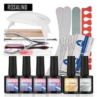 Rosalind Magnet Cat Eyes UV Gel Kit Soak off Gel Polish Gel Nail Kit Nail Art Tools Sets Kits Manicure Set