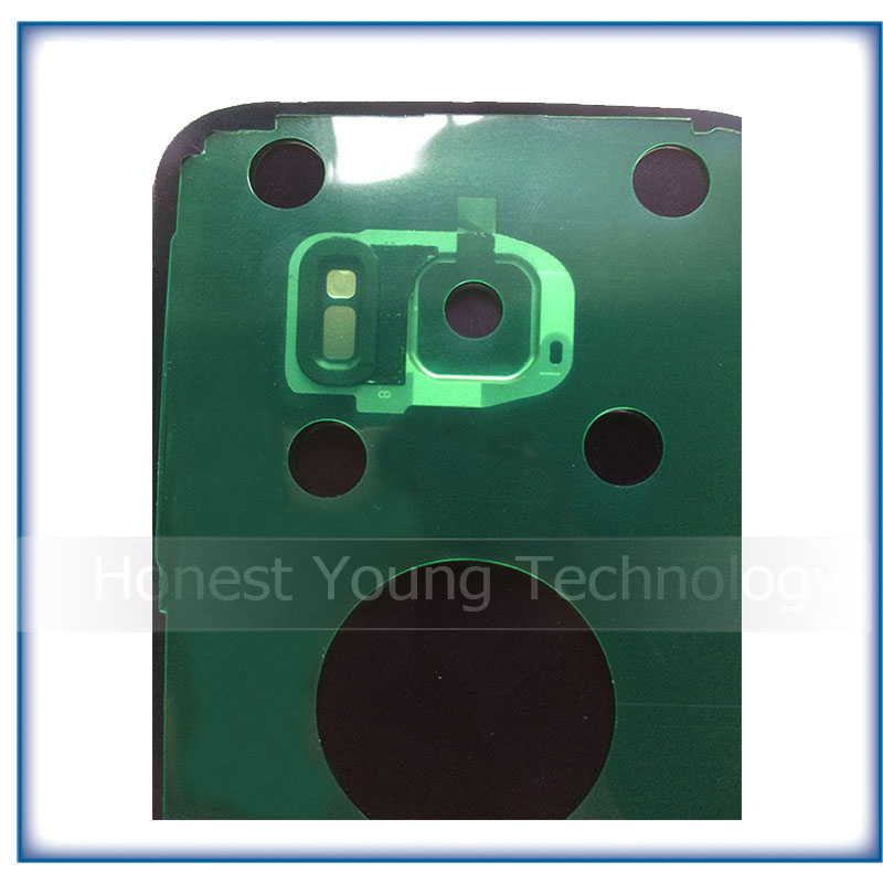New Rear Panel Glass Battery Back Cover For Samsung Galaxy S7 G930 S7 edge G935 With Stickers+ Camera Lens