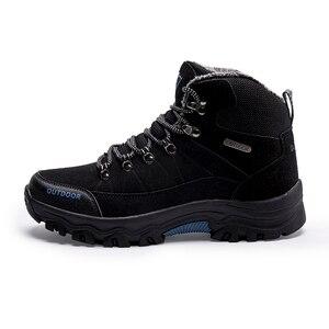 Image 4 - סופר חם גברים חורף מגפי זמש באיכות עור גברים מגפי פרווה בפלאש שלג מגפי חורף נעלי גברים חיצוני מגפיים נעליים