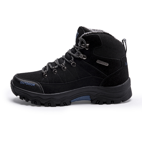 Super Warm Men Winter Boots Quality Suede Leather Men Boots Fur Plush Snow Boots Winter Shoes For Men Outdoor Boots Shoes Islamabad