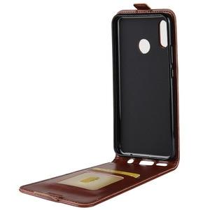 Image 2 - 名誉 8C アップダウン垂直フリップ財布革カードホルダーケース Huawei 社の名誉 8C Honor8C フル保護電話カバーケース