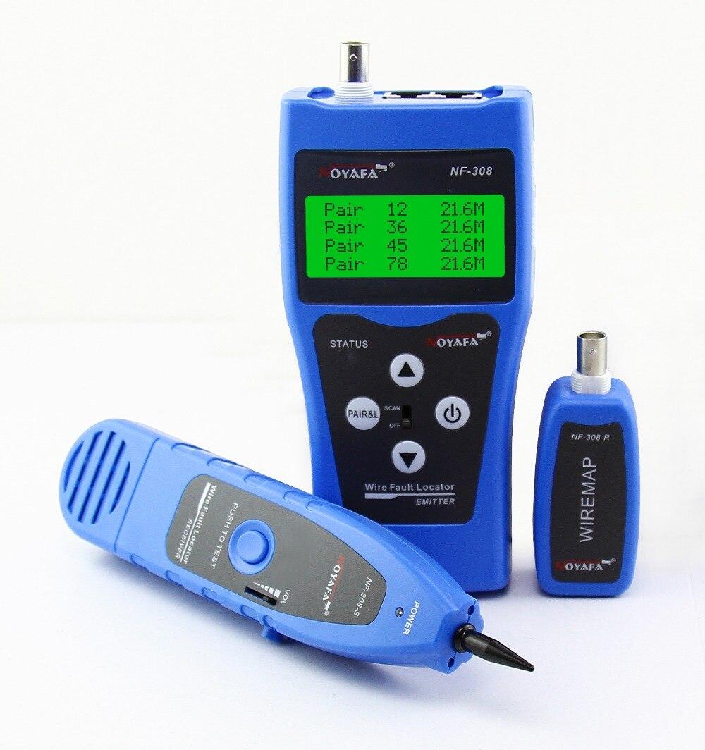 Livraison Gratuite! NOYAFA NF-308B Réseau Ethernet LAN Téléphone Testeur fil Tracker USB coaxial Câble 5E 6E RJ45 11