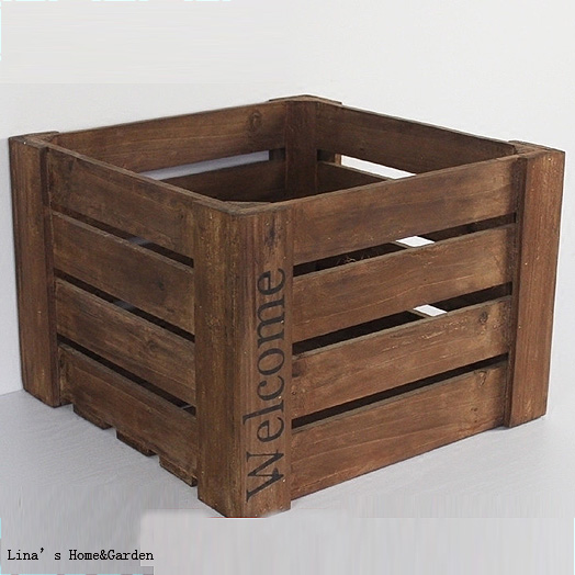 Sturdy Solid Square Handmade Rustic Wooden Crates Wooden Crate Crate Woodenwood Wood Aliexpress