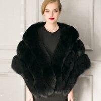 Atacado de alta qualidade da moda Quente faux fur Xailes Wraps senhoras faux fur cape casaco de inverno mulher