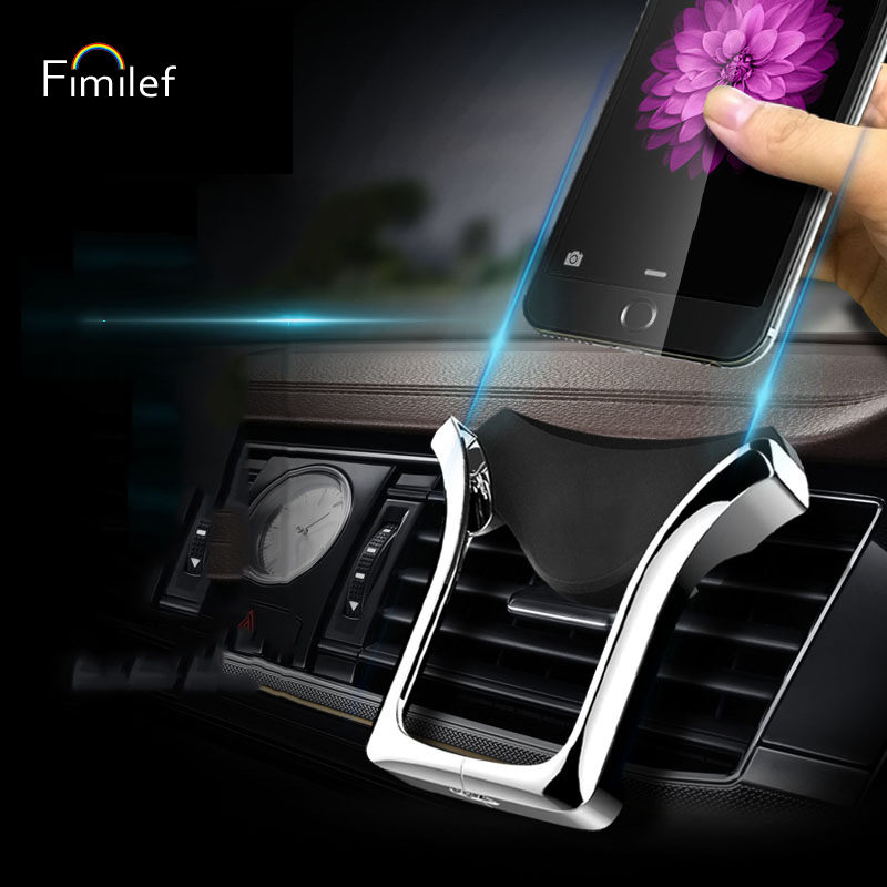 Fimilef U-type Gravity Car Phone Holder Air Outlet Mount Mobile Phone Holder Automatic Load-bearing Induction Navigation Bracket Fashionable And Attractive Packages