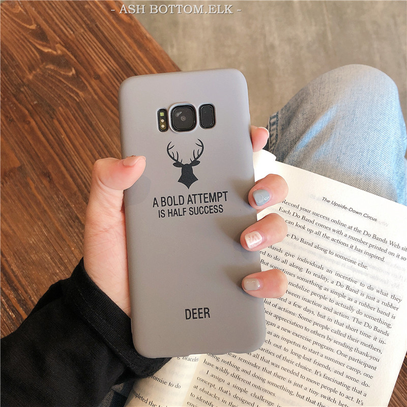 Soft Matte Case for Samsung galaxy S6 S7 edge S8 S9 Plus Note 8 9 3 4 5 C9 Pro C5 C7 A9 A8 Star Silicon Deer Case Cover