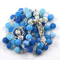 Catholic rosary, 8 mm natural stone rosary