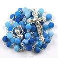 Rosario católico, 8mm rosario de piedra natural