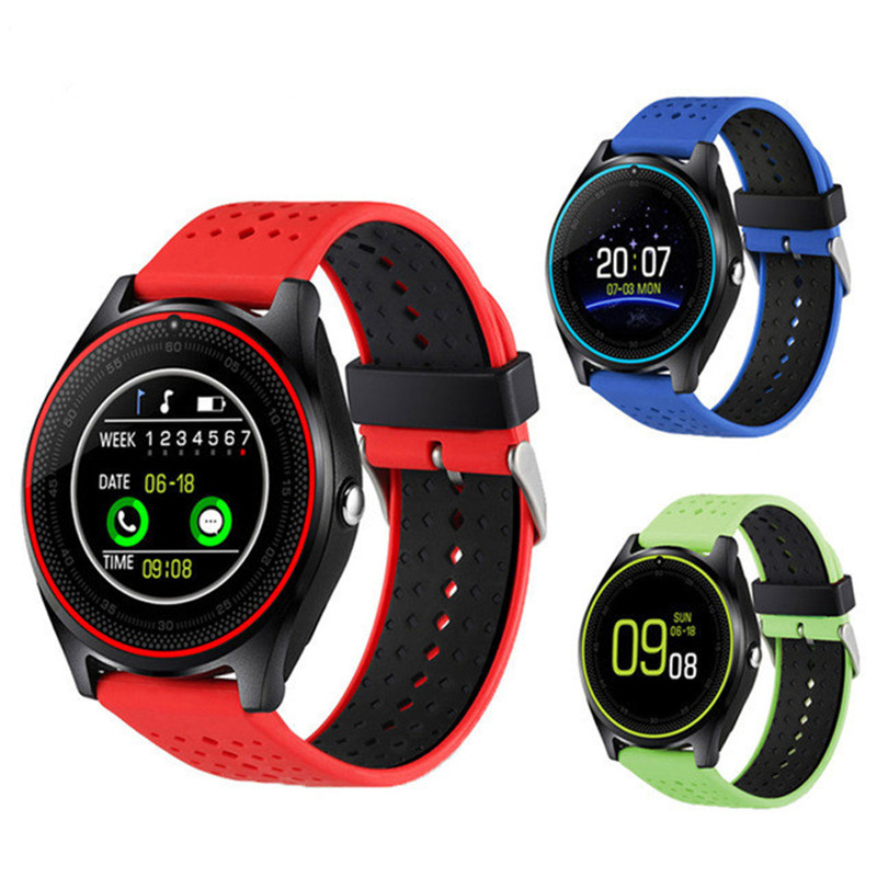 V9 Smart Watch Support SIM TF Card Smart Watches Men Women with Camera Sport Pedometer Bluetooth Smartwatch for Android Phones стоимость