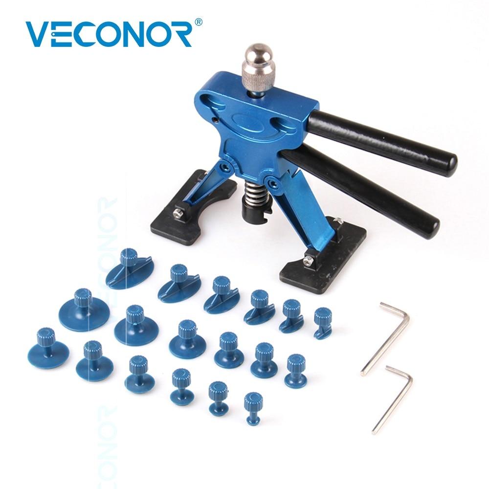 Veconor 21PCS Panel Dent Repair Tool Auto Dent Puller PDR Tool With 18 Pcs Glue Puller Tabs Auto Repair Tools