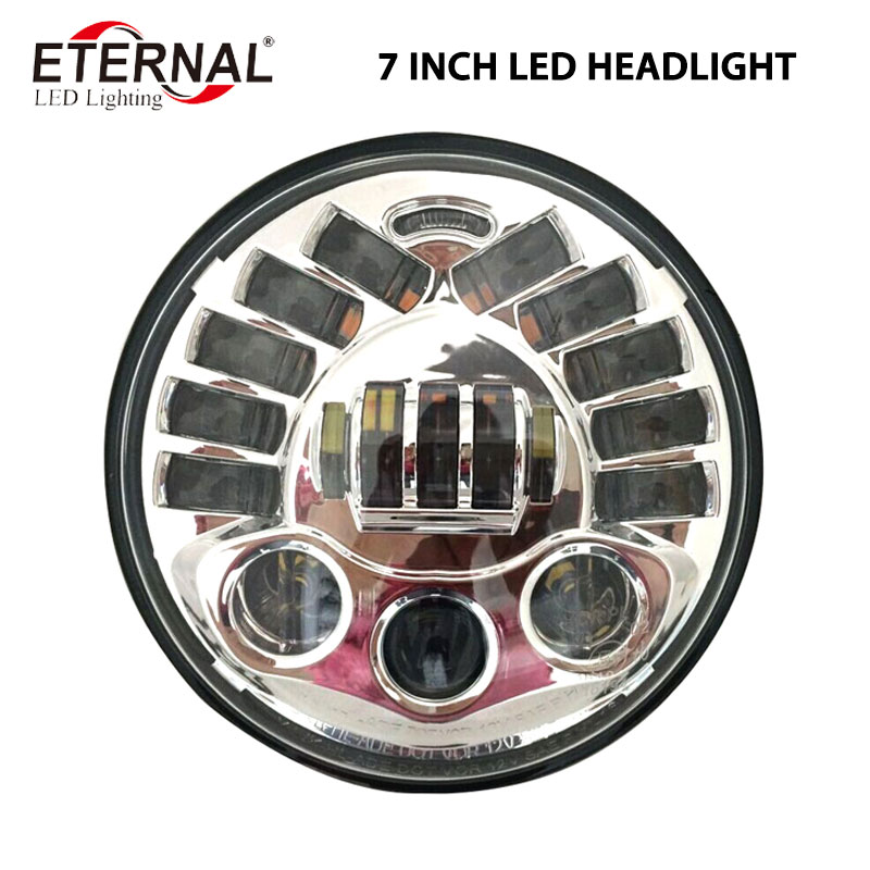 70W 7inch round LED headlamp replacement Projector Daymaker headlight for 4x4 off road Wrangler JK TJ Harley Dyna DUCATI BMW 7inch motorcycle daymaker replacement led headlight